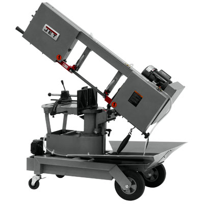 Jet 424465 HVBS-10-DMWC 10in. Horizontal/Vertical Dual Mitering Portable Band Saw 1HP, 115V, 1 Ph 424465