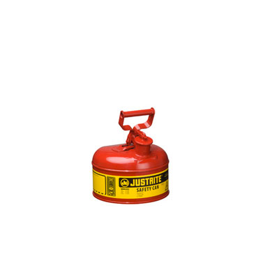 Justrite - Metal Safety Can & Funnel, Type 1, 1Gal Red 7110110