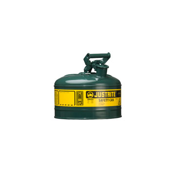 Justrite - Metal Safety Can Type 1, 1Gal, Green 7110400