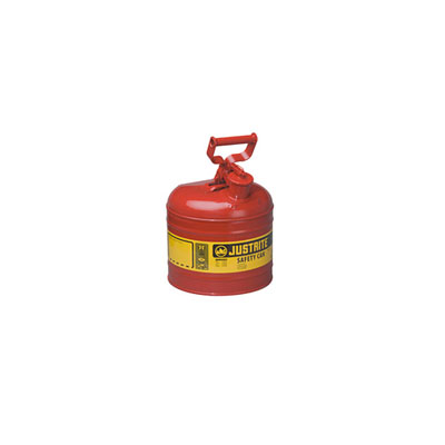Justrite - Metal Safety Can Type 1, 2Gal, Red 7120100