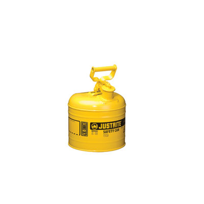 Justrite - Metal Safety Can Type 1, 2Gal, Yellow 7120200