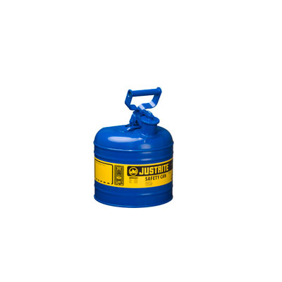 Justrite - Metal Safety Can Type 1, 2Gal, Blue 7120300