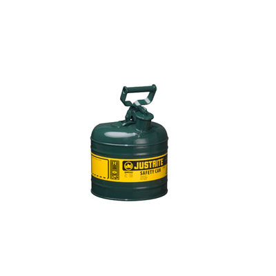Justrite - Metal Safety Can Type 1, 2Gal, Green 7120400