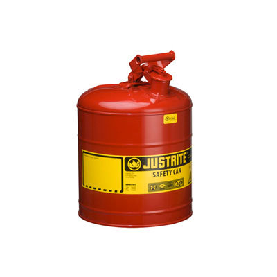 Justrite - Metal Safety Can Type 1, 5Gal, Red 7150100