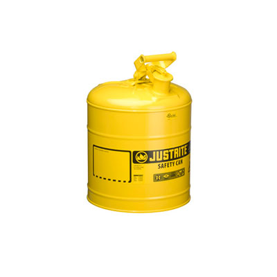 Justrite - Metal Safety Can Type 1, 5Gal, Yellow 7150200