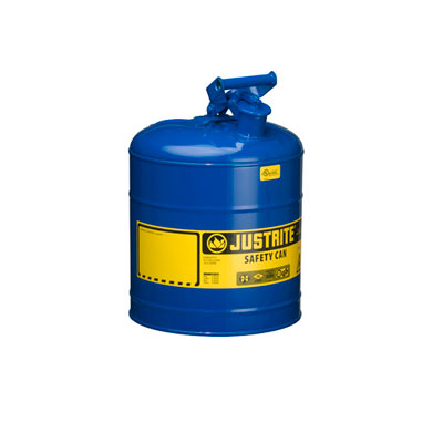 Justrite - Metal Safety Can Type 1, 5Gal, Blue 7150300