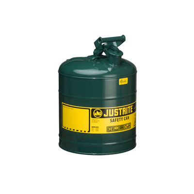 Justrite - Metal Safety Can Type 1, 5Gal, Green 7150400