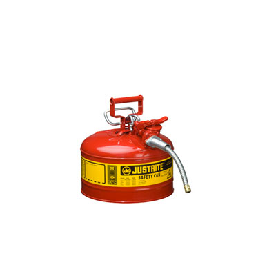 Justrite - Metal Safety Can, 5/8in Hose, Type 2, 2.5Gal Red 7225120