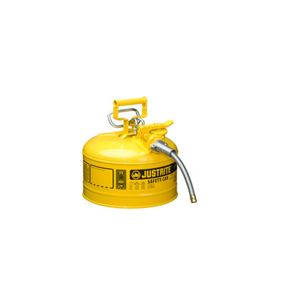 Justrite - Metal Safety Can, 5/8in Hose, Type 2, 2.5Gal YL 7225220