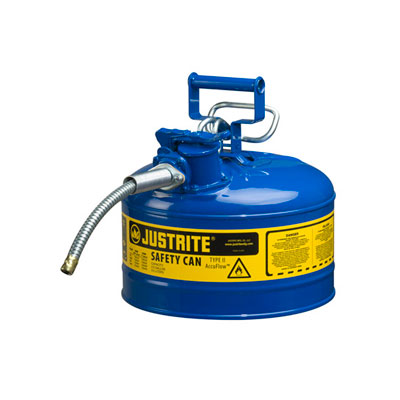 Justrite - Metal Safety Can, 5/8in Hose, Type 2, 2.5Gal BL 7225320