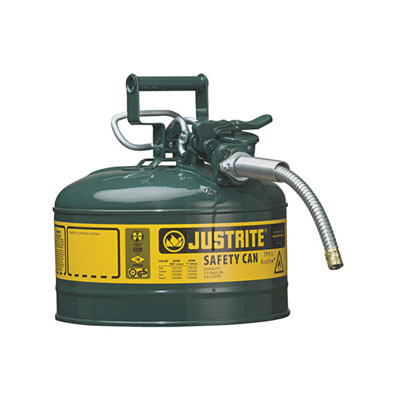 Justrite - Metal Safety Can, 5/8in Hose, Type 2, 2.5Gal GN 7225420