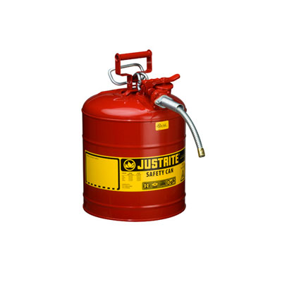 Justrite - Metal Safety Can, 5/8in Hose, Type 2, 5Gal Red 7250120