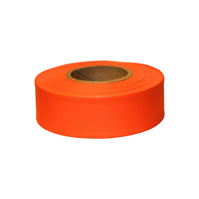 Keson FTO Orange Flagging Tape, 1-3/16 IN X 300 FT, 12 PK. KES-FTO