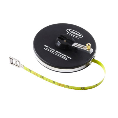 Keson ST10018 3/8 IN X 100 FT ST Series Steel Long Tape Measure KES-ST10018