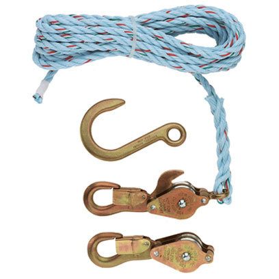Klein 1802-30 Block and Tackle with 258 Anchor Hook and 25ft Rope 1802-30