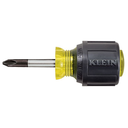 Klein 603-1 No. 2 Stubby Phillips Screwdriver 1-1/2 in. Round-Shank KLE-603 1