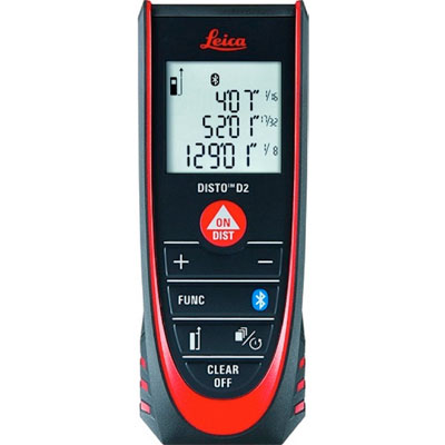 Leica DISTO D2 320ft Laser Distance Meter with Bluetooth 4.0 838725