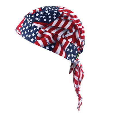 Lift Safety ACS-14F American Flag Cooling Skull Cap (Pack of 4) ACS-14F