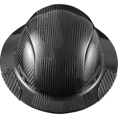 Lift Safety HDC-15KG Dax Carbon Fiber Full Brim Hard Hat - Black HDC-15KG BLACK