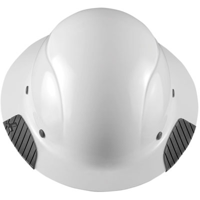 Lift Safety HDF-15WG Dax Full Brim Hard Hat Fiber Resin - White HDF-15WG WHITE