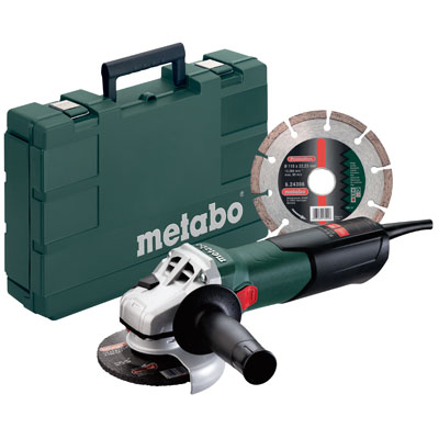 Metabo W 9-115 Kit 4-1/2in. Angle Grinder 10,500 RPM - 8.5 AMP w/Lock-on 600354850