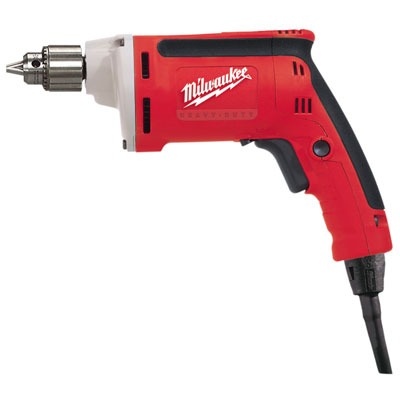 0101-20 Milwaukee Electric Tools 1/4 in. Drill, 0-4000 RPM with Quik-Lok Cord 0101-20