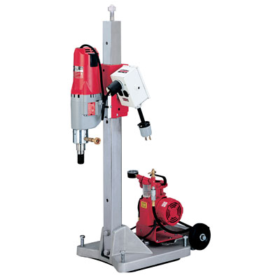 4120-22 Milwaukee Electric Tools Diamond Coring Rig with Large Base Stand, Vac-U-Rig Kit, Meter Box and Diamond Coring Motor 4120-22