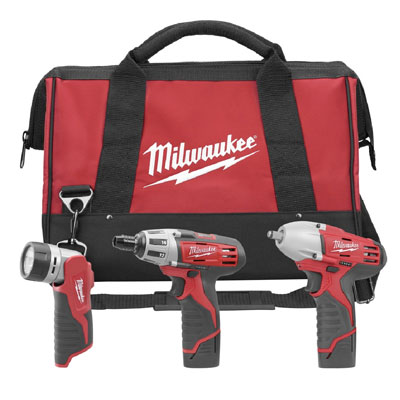 Milwaukee Electric Tool - 2491-23 M12 Combo Drill Driver, 3/8in Impact and Light 2491-23