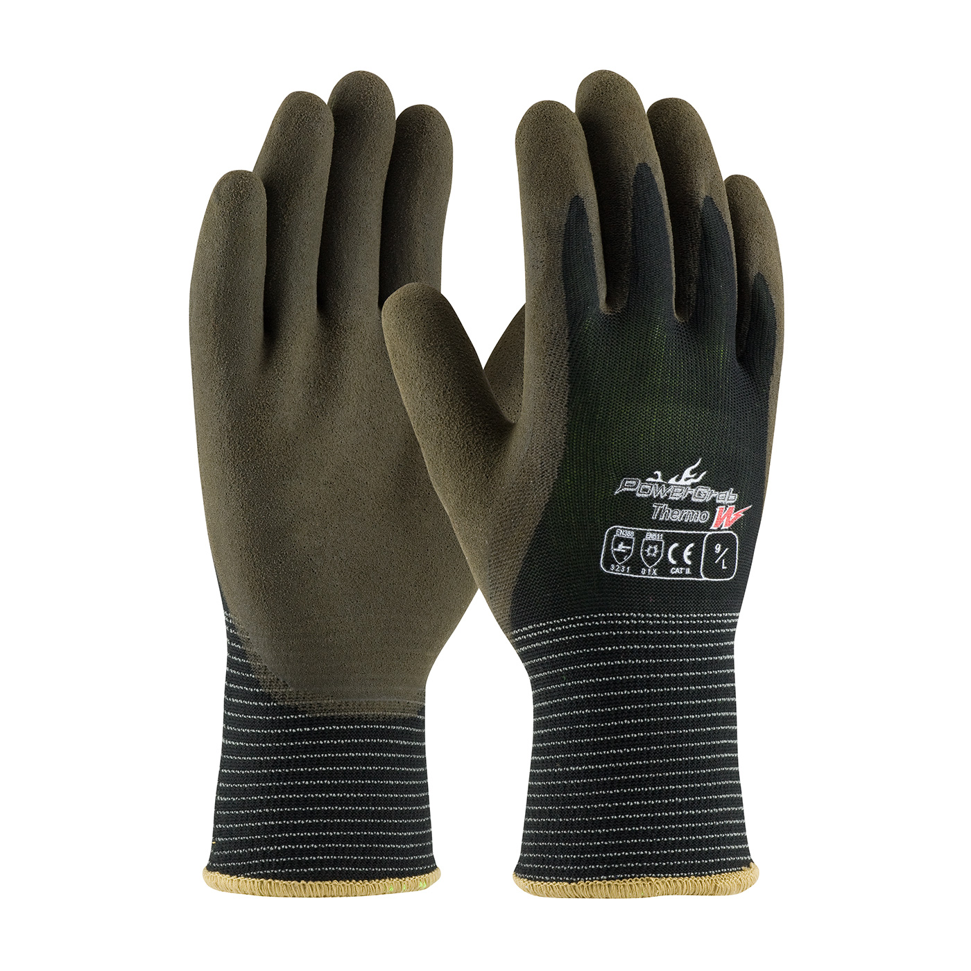 PIP 41-1430/XL PowerGrab Thermo W Seamless Knit Polyester Glove with Acrylic Liner and Latex MicroFinish Grip on Palm & Fingers - X-Large PID-41 1430 XL