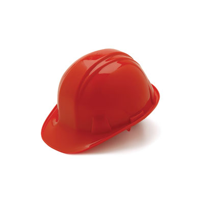 Pyramex HP14020 Hard Hat - Red 4 Pt - Snap Lock Suspension (Box of 16) HP14020