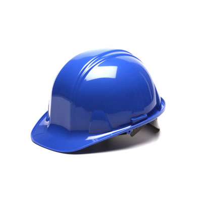 Pyramex HP14060 Hard Hat - Blue 4 Pt - Snap Lock Suspension (Box of 16) HP14060