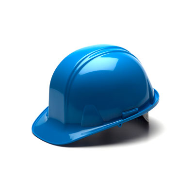 Pyramex HP14062 Hard Hat - Light Blue 4 Pt - Snap Lock Suspension (Box of 16) HP14062