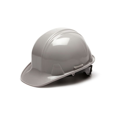 Pyramex HP14112 Hard Hat - Gray 4 Pt Ratchet Suspension (Box of 16) HP14112