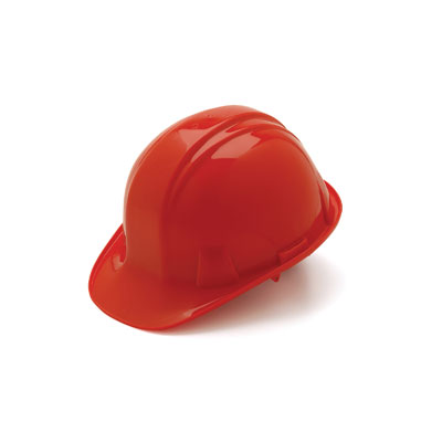 Pyramex HP14120 Hard Hat - Red 4 Pt Ratchet Suspension (Box of 16) HP14120