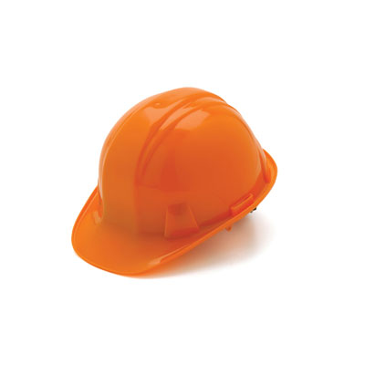 Pyramex HP14140 Hard Hat - Orange 4 Pt Ratchet Suspension (Box of 16) HP14140