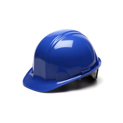 Pyramex HP14160 Hard Hat - Blue 4 Pt Ratchet Suspension (Box of 16) HP14160