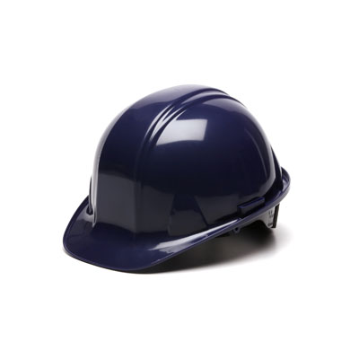 Pyramex HP14165 Hard Hat - Dark Blue 4 Pt Ratchet Suspension (Box of 16) HP14165