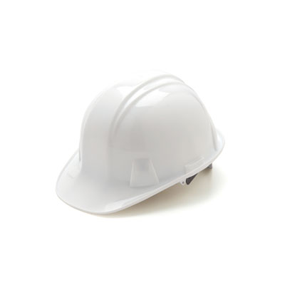Pyramex HP16010 Hard Hat - White 6 Pt- Snap Lock Suspension (Box of 16) HP16010