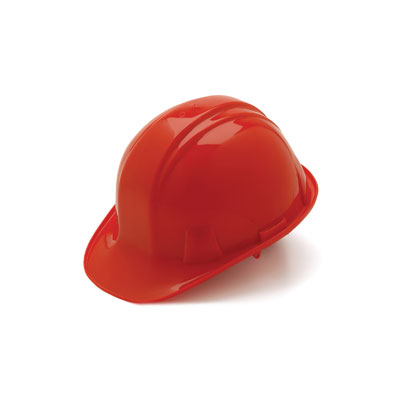 Pyramex HP16020 Hard Hat - Red 6 Pt- Snap Lock Suspension (Box of 16) HP16020