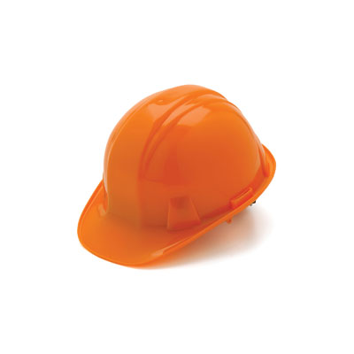 Pyramex HP16040 Hard Hat - Orange 6 Pt- Snap Lock Suspension (Box of 16) HP16040