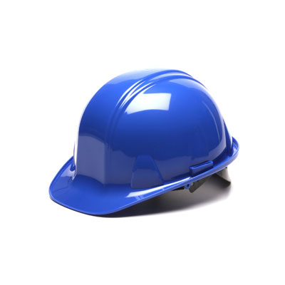 Pyramex HP16060 Hard Hat - Blue 6 Pt- Snap Lock Suspension (Box of 16) HP16060