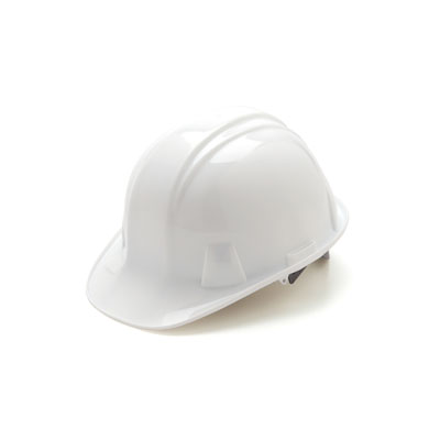 Pyramex HP16110 Hard Hat - White 6 Pt Ratchet Suspension (Box of 16) HP16110