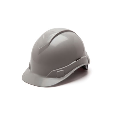 Pyramex HP44112 Hard Hat - Gray 4 Pt Ratchet Suspension (Box of 16) HP44112
