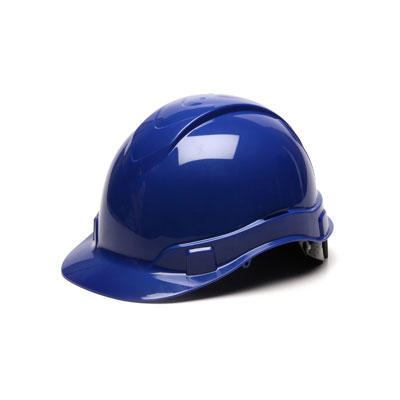 Pyramex HP44160 Hard Hat - Blue 4 Pt Ratchet Suspension (Box of 16) HP44160