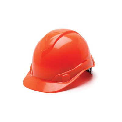 Pyramex HP46141 Hard Hat - Hi Vis Orange 6 Pt Ratchet Suspension (Box of 16) HP46141