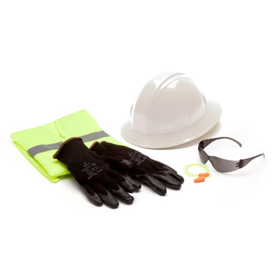 Pyramex NHCL New Hire Kit -Head - Eye - Ear - Hand Protection - Large (Case of 10) NHCL