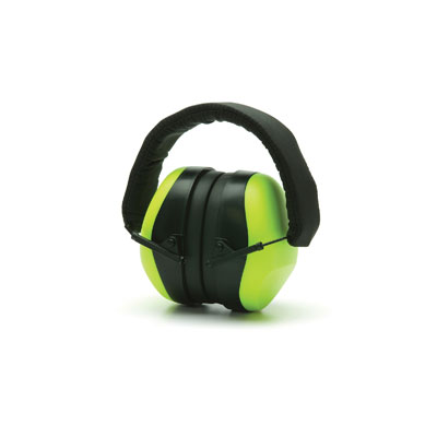Pyramex PM8031 Ear Muffs - Hi-Vis Lime NRR 26dB PM8031