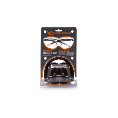 Pyramex VGCOMBO8610 Ever-Lite Black Frame/Clear Lens with PM8010 Gray Ear Muff VGCOMBO8610