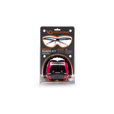 Pyramex VGCOMBO8617  Ever-Lite Black Frame/Pink Lens with PM8010P Pink Ear Muff VGCOMBO8617