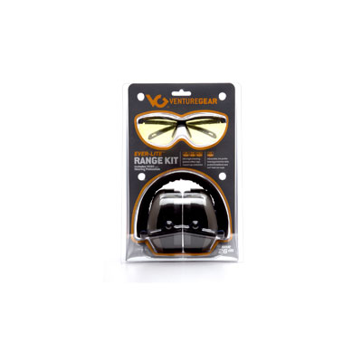 Pyramex VGCOMBO8630 Ever-Lite Black Frame/Amber Lens with PM8010 Gray Ear Muff PYR-VGCOMBO8630